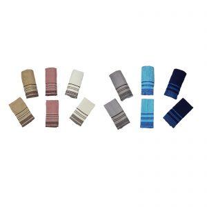 Novel Maison set 6 pezzi, n° 3 asciugamani viso + n° 3 asciugamani ospiti 400 g/mq