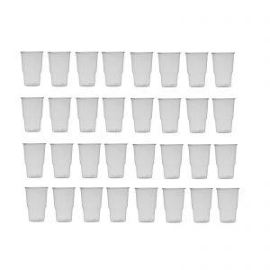 Ecozema ILIP n° 100 Bicchieri per bevande fredde biodegradabile e compostabile in Ingeo™ P.L.A. Trasparente, leggero e resistente