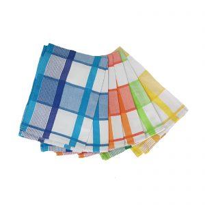 Novel Maison n° 6 canovacci strofinacci 100% cotone a quadri colorati made in Egitto