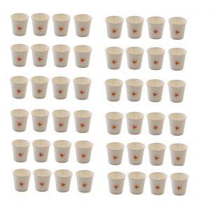 Ecozema 100 bicchieri caffè 120cc 4oz diametro cm 6 biodegradabile e compostabile in cartoncino + rivestimento interno in Ingeo™ (P.L.A)