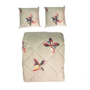 Borbonese trapunta invernale matrimoniale double face più due cuscini arredo Papillons