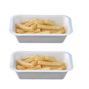 Ecozema n° 50 Vaschetta per Patatine biodegradabile e compostabile Può essere usata in forno tradizionale e microonde