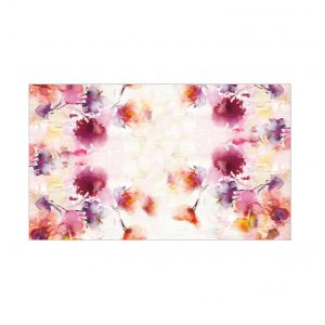 Maison sucrée tovaglia tavolo Marrakech fiori 100% cotone stampa digitale made in Italy