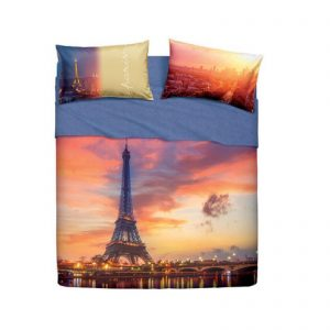 Bassetti Imagine completo lenzuola matrimoniale Paris Forever Made in Italy