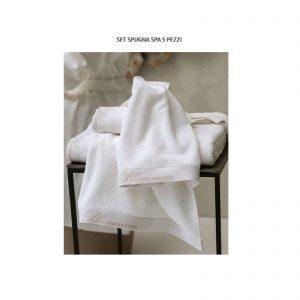 Blumarine completo bagno set 5 pezzi spugna Spa in 100% spugna di cotone idrofilo da 450 gr/mq