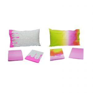 Bassetti completo lenzuola una piazza e mezza 100% cotone stampato Made in Italy