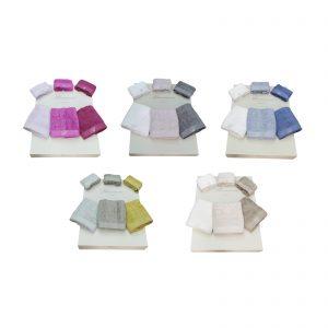 Blumarine set 6 asciugamani spugna Benessere in spugna da 520 grammi m/q