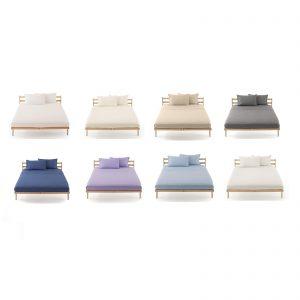 Zucchi clic clac lenzuola di sopra piane in percalle di puro cotone pettinato da 80 fili al cm²