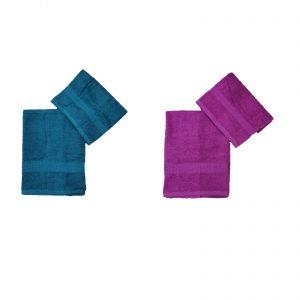 Bassetti set asciugamano viso + asciugamano ospiti spugna da 430 g/mq