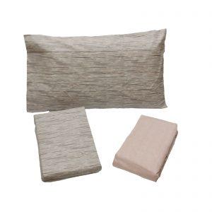 Zucchi completo lenzuola flanella di puro cotone matrimoniale