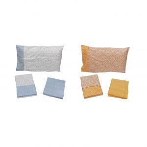 Bassetti completo lenzuola flanella di puro cotone varie misure