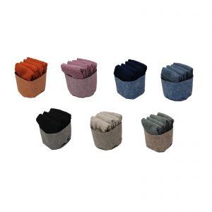 Maison sucrée cestino con 4 lavette in spugna 100% cotone cm 30×30 450  grammi a m/q