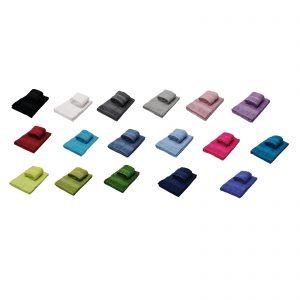 Daltex Set 1+1 Asciugamano Viso più Asciugamano ospite in Spugna Puro Cotone Pettinato da 500gr/metro Quadro