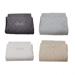 Liu Jo copriletto trapuntato estivo Matrimoniale in raso di cotone 60 fili cm 270×265 logo LIU-JO con strass made in Italy