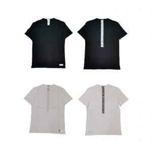 Bikkembergs T-shirt uomo girocollo mezza manica 100% cotone con logo su schiena
