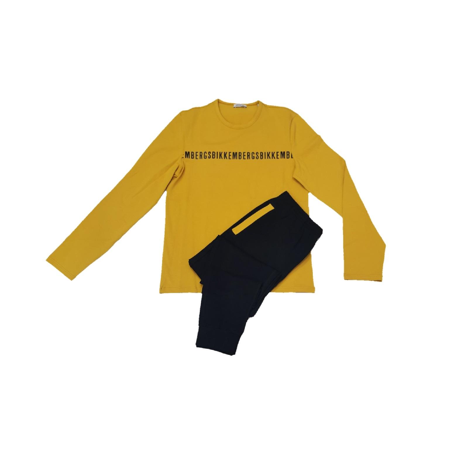 bikkembergs pigiama logo longeawear